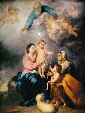 The Holy Family (The Virgin of Sevill) by Bartolomé Estebàn Murillo