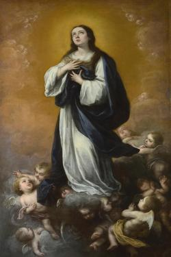 The Immaculate Conception of the Virgin, Mid of 17th C by Bartolomé Estebàn Murillo