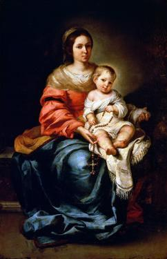 The Madonna of the Rosary by Bartolome Esteban Murillo