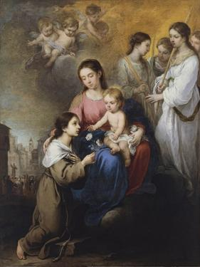 The Virgin and Child with Saint Rose of Viterbo by Bartolomé Estebàn Murillo