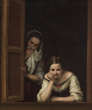 Two Women at a Window, 1655-60 by Bartolomé Esteban Murillo