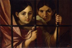 Two Women Behind a Grille, 1645 by Bartolomé Estebàn Murillo