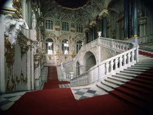 The Grand Staircase of the Winter Palace, 1756-1761 by Bartolomeo Francesco Rastrelli