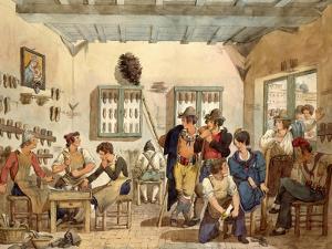 Cobbler's Shop by Bartolomeo Pinelli