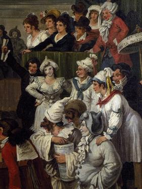 Pulcinella with Other Carnival Character, Detail, 1821 by Bartolomeo Pinelli