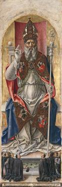 St. Ambrose, from Polyptych with St. Ambrose Blessing by Bartolomeo Vivarini