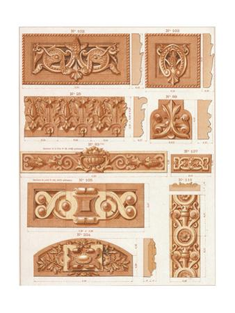 Bas Relief Borders with Floral and Scrolling Embellishments