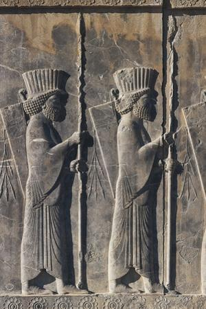 Bas-Relief from the South Stairs Depicting Soldiers, from Darius Palace in Persepolis