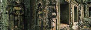 Bas Relief in a Temple, Banteay Kdei, Angkor, Cambodia