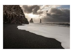 Basalt Rocks at Cape Dyrholaey near Vik i Myrdal, Myrdalur, Iceland