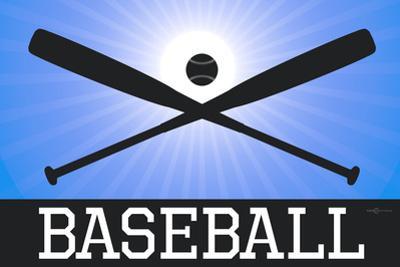 Baseball Blue Sports Plastic Sign