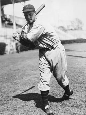 Baseball Player Bill Terry in Batting Stance