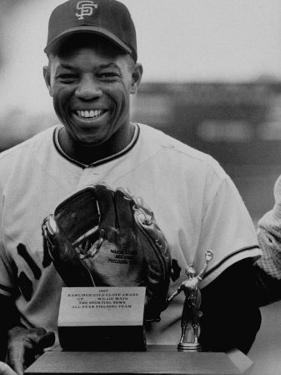 Baseball Player Willie Mays Posing for a Picture