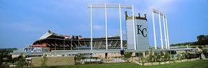 Baseball Stadium in a City, Kauffman Stadium, Kansas City, Missouri, USA