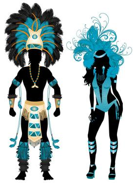 Carnival Blue Couple by BasheeraDesigns