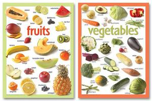 Basic Fruits & Veg Poster Set - 2