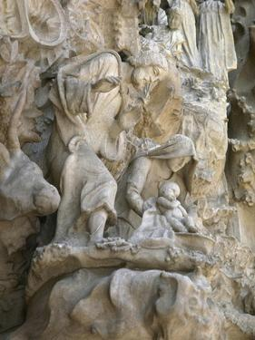 Basilica and Expiatory Church of the Holy Family by Antoni Gaudi. Detail. Spain