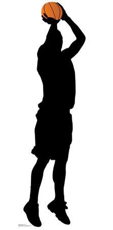 Baskeball Player Shooting Silhouette