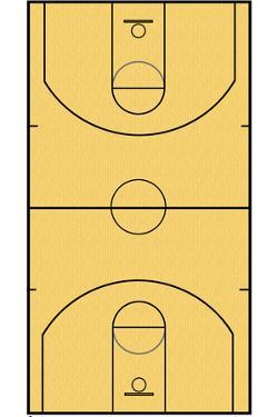 Basketball Court Layout Sports Poster