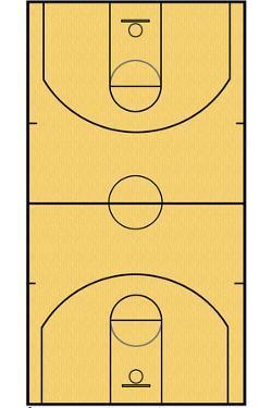 Basketball Court Layout Sports