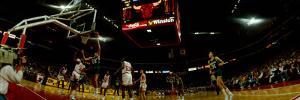 Basketball Match in Progress, Chicago Stadium, Chicago, Cook County, Illinois, USA