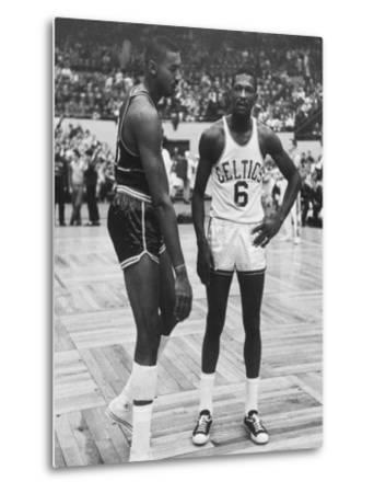 Basketball Players Bill Russell and Wilt Chamberlain During Game