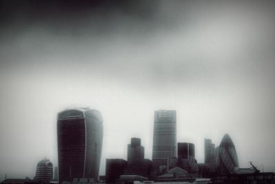 The Skyline of the City of London with Different Skyscrapers by Bastian Kienitz