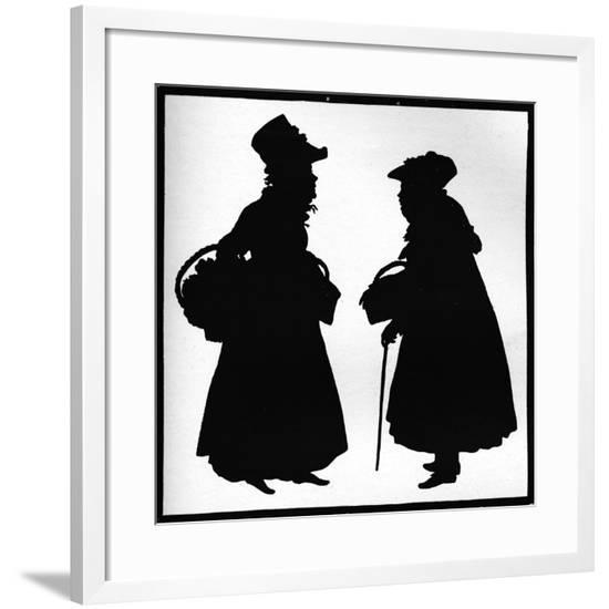 'Bath Characters', c1832-Auguste Amant Constant Fidele Edouart-Framed Giclee Print