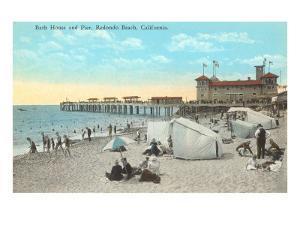 Bath House and Pier, Redondo Beach