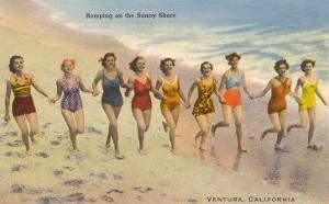 Bathing Beauties on Beach, Ventura