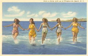 Bathing Beauties, Wrightsville Beach, North Carolina