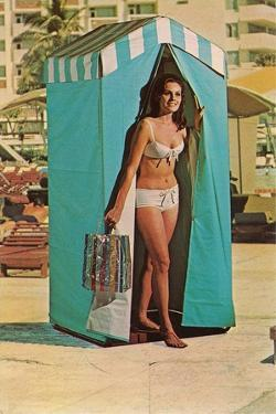 Bathing Beauty in Changing Tent