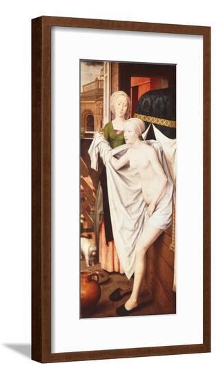 Bathsheba at Her Bath by Hans Memling--Framed Giclee Print