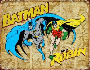 Batman and Robin Weathered Panels
