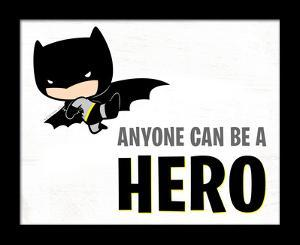 Batman - Anyone Can Be A Hero Deep Framed MDF Sign