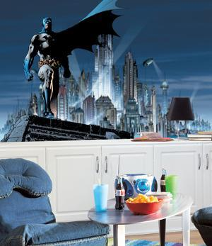 Batman Chair Rail Prepasted Mural