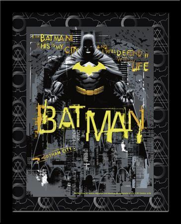 Batman Defender Gotham 3D Framed Art