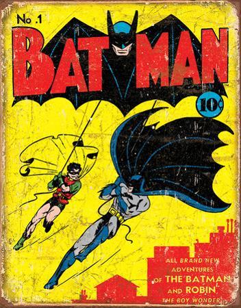 Batman No.1 Cover Tin Sign Tin Sign