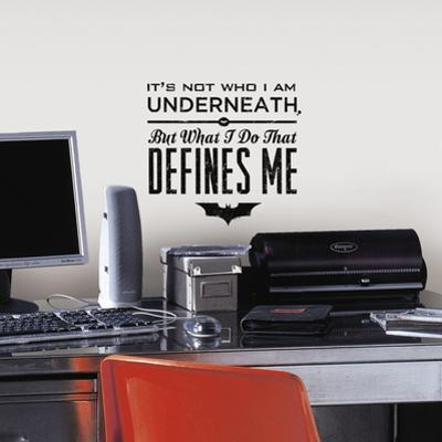 Batman Quote Peel and Stick Wall Decals