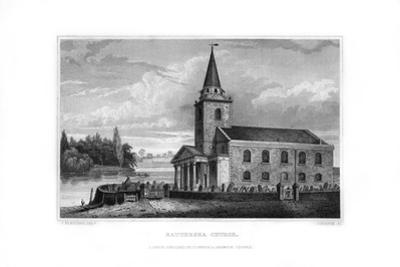 Battersea Church, Battersea, London, 1829 by J Rogers