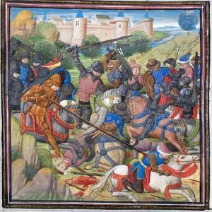 Battle Between Crusaders under Baldwin II of Jerusalem and the Saracens