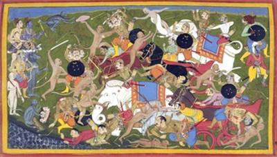 Battle Between the Armies of Rama and the King of Lanka