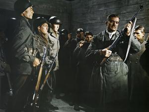 BATTLE OF THE BULGE, 1965 directed by KEN ANNAKIN James MacArthur, Henry Fonda and Dana Andrews (ph