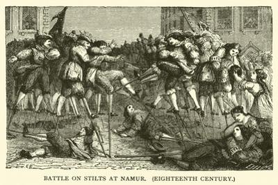 Battle on Stilts at Namur, Eighteenth Century