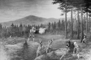 Battle with the Iroquois Indians
