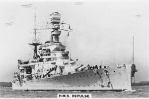 Battlecruiser HMS Repulse, 1937