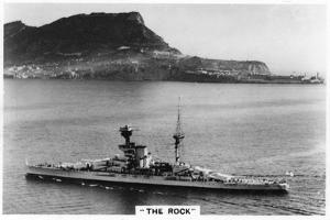 Battleship HMS Revenge Off Gilbralter, 1937