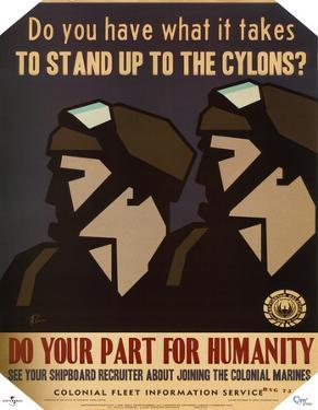 Battlestar Galactica Do Your Part for Humanity TV Poster Print