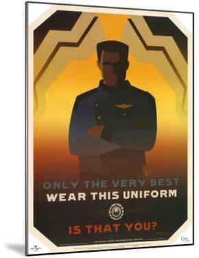 Battlestar Galactica Only the Very Best Wear this Uniform TV Poster Print