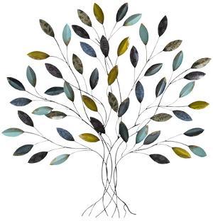Baxley Blue Gold Metallic Tree
